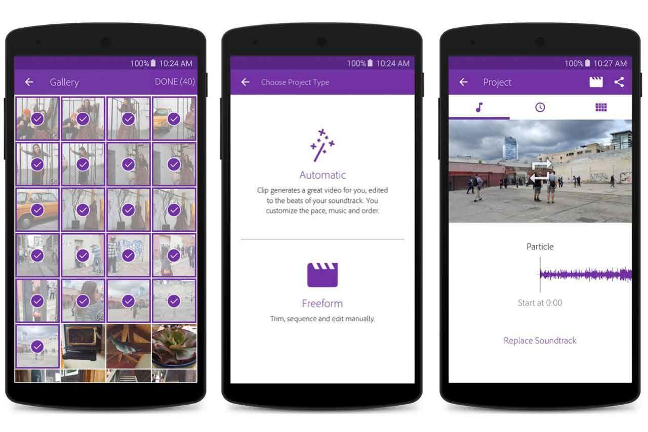 Adobe Premier Clip, Aplikasi Edit Video android