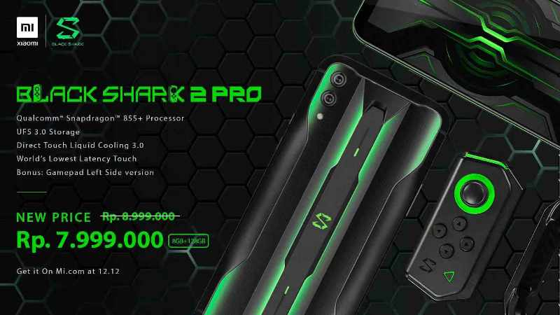 Hp gaming terbaru xiaomi black shark 2
