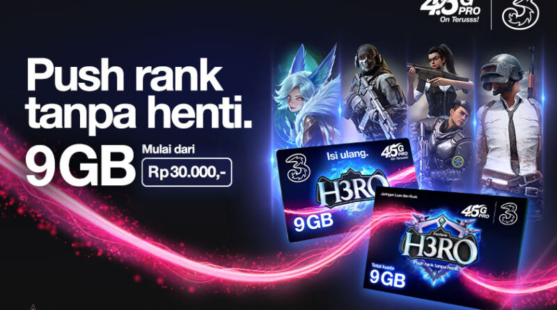 Kartu Perdana H3RO Dari Tri