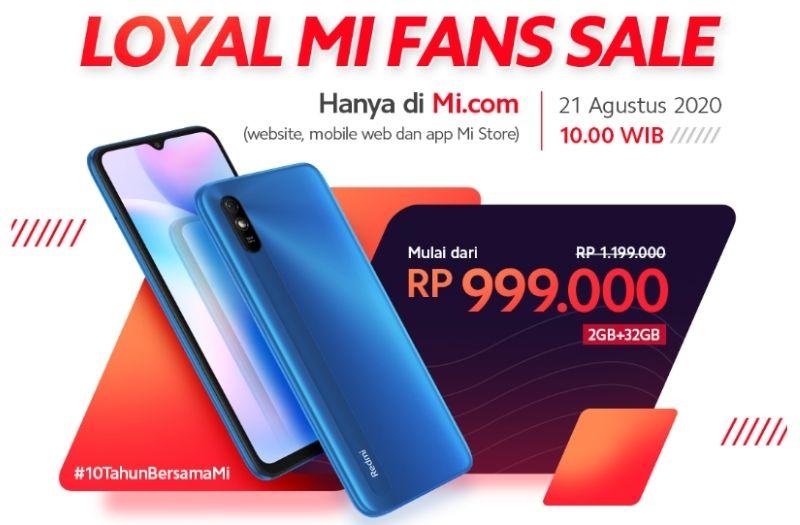 Hari ini, Penjualan Redmi 9A Hanya Rp 999,000