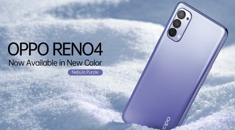 Ini OPPO Reno4 Nebula Purple, Cantik Nggak?