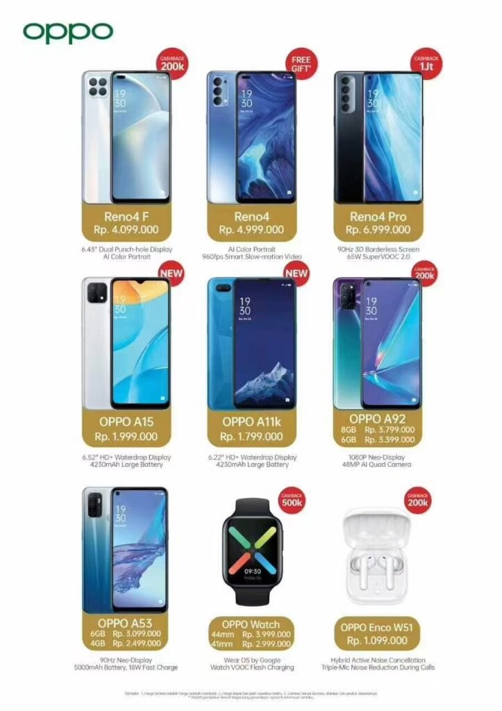 oppo indonesia discount promo