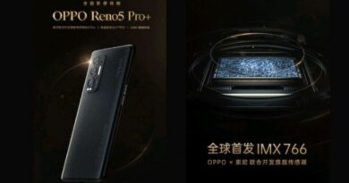 OPPO Reno5 Pro+ Kantongi Sensor 50MP Kamera Sony IMX766
