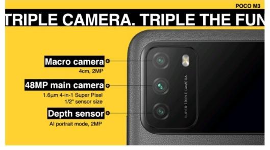 spesifikasi poco m3 kamera