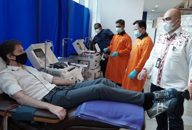 Peduli Covid-19 Karyawan XL Axiata Ikuti Donor Plasma Konvalesen