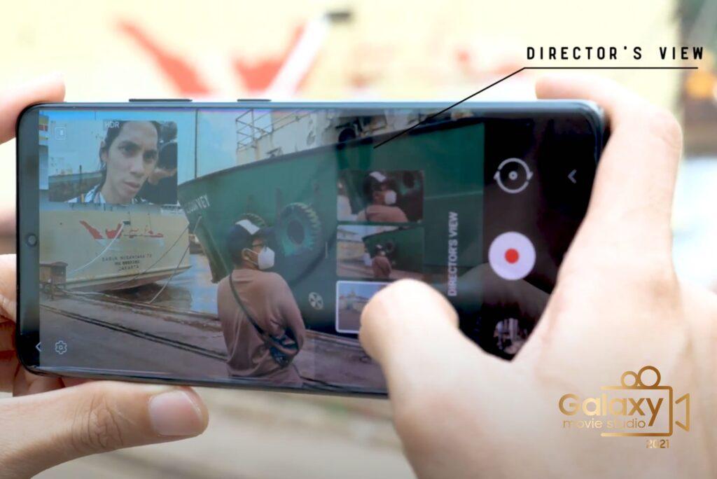 Angga Dwimas Sasongko Memaksimalkan Director View Pada Samsung Galaxy S21