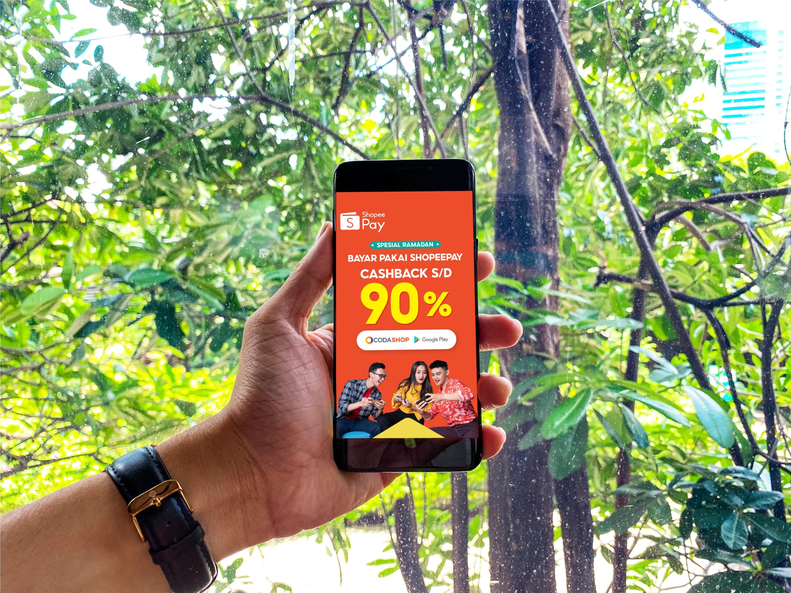 ShopeePay Berikan Cashback Hingga 90% di Codashop dan Google Play Store
