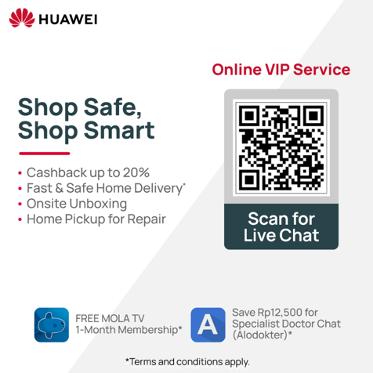 Tetap Di Rumah, Shop Safe & Shop Smart Bersama Huawei