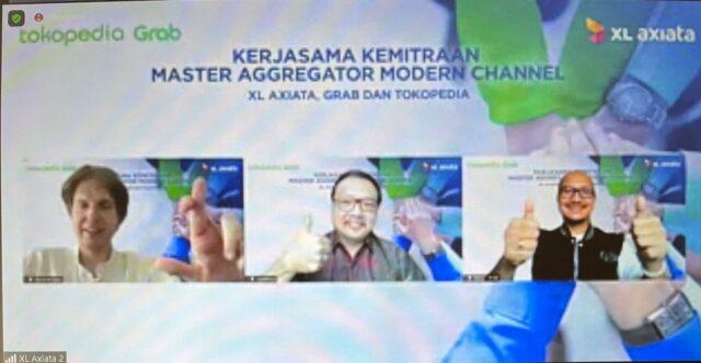 XL Axiata Jalin Kemitraan Strategis dengan Grab dan Tokopedia