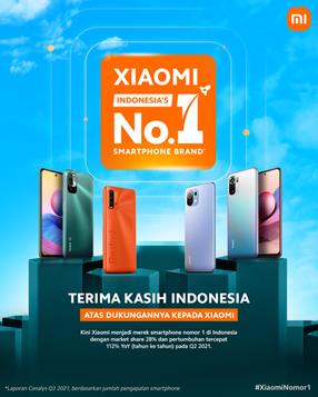 Xiaomi Menjadi Merek Smartphone #1 Indonesia